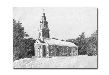 Custom Portrait: First Methodist Church
