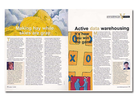 Custom Portrait: Spread from Teradata Magazine
