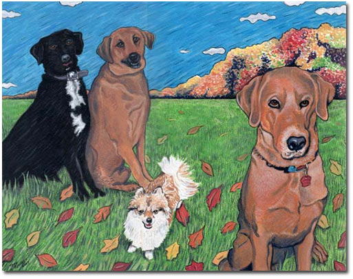Custom Portrait: Hobo, Reece, Bear & DJ